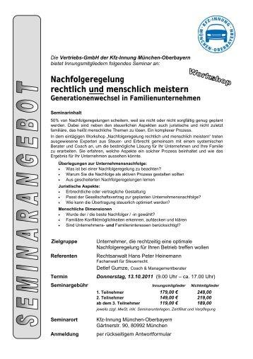 Nachfolgeregelung rechtlich und menschlich meistern - Studium-kfz ...