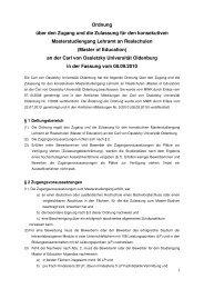 Lehramt an Realschulen - Studium - Universität Oldenburg