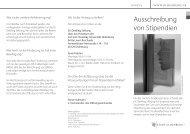 Ausschreibung von Stipendien - Studium - Universität Oldenburg
