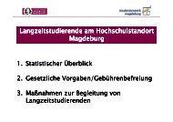 Langzeitstudierende am Hochschulstandort Magdeburg - Studium