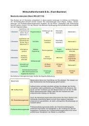Wirtschaftsinformatik B.Sc. (Fach-Bachelor) - Studium