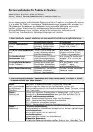 Recherchestrategien für Praktika im Studium - Studium - Universität ...