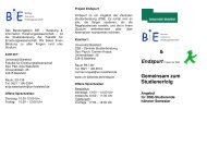 2_ Flyer BIE Endspurt - Studium