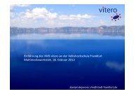 Einführung des VMS vitero an der ... - studiumdigitale