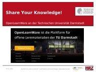 Share Your Knowledge! - studiumdigitale