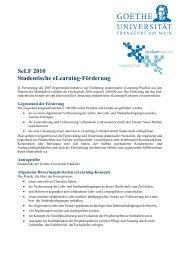 SeLF 2010 Studentische eLearning-Förderung - studiumdigitale ...