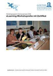Programm im Sommersemester 2009 - studiumdigitale - Goethe ...