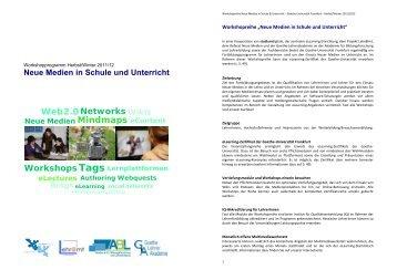 Neue Medien in Schule und Unterricht - studiumdigitale - Goethe ...