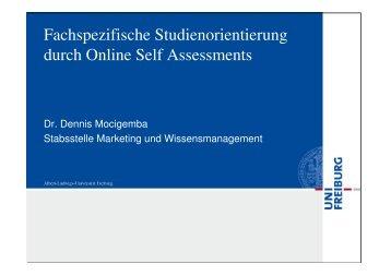 Fachspezifische Studienorientierung durch Online ... - studiumdigitale