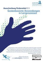 Gestenbasierte Anwendungen in Lernprozessen - studiumdigitale ...