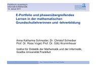 lehrerbildung - studiumdigitale - Goethe-Universität
