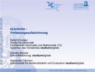 Studierende - studiumdigitale - Goethe-Universität