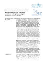 Curriculare Integration und Anreiz - studiumdigitale - Goethe ...