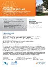 MOBILE LEARNING - studiumdigitale - Goethe-Universität