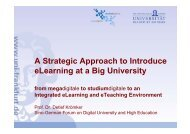 A Strategic Approach to Introduce eLearning at a ... - studiumdigitale
