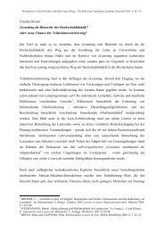 Claudia Bremer eLearning als Hintertür der Hochschuldidaktik ...