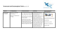 Übersicht Screencast und Screencapture Tools - studiumdigitale