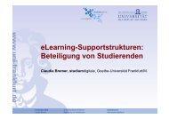 eLearning-Supportstrukturen - studiumdigitale - Goethe-Universität
