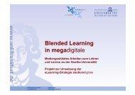 Blended Learning in megadigitale - studiumdigitale - Goethe ...