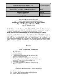 Diplom-Prüfungsordnung - Christian-Albrechts-Universität zu Kiel