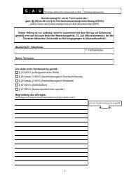 Sonderantrag für erste Fachsemester - Studierendenservice ...