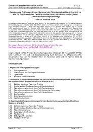 Zwei-Fächer-Prüfungsordnung - Christian-Albrechts-Universität zu Kiel