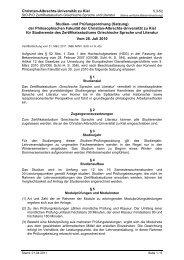 Studien- und Prüfungsordnung - Christian-Albrechts-Universität zu ...