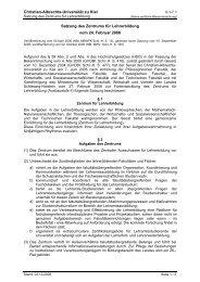 Satzung des Zentrums für Lehrerbildung (PDF) - Christian-Albrechts ...