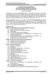 Promotionsordnung - Christian-Albrechts-Universität zu Kiel