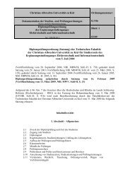 Prüfungsordnungen - Christian-Albrechts-Universität zu Kiel