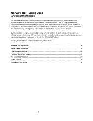 Norway, Bø – Spring 2013 - UW Study Abroad - University of ...