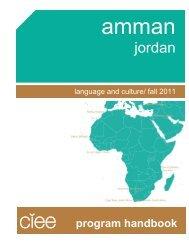 Part I: The CIEE Program in Amman - UW Study Abroad
