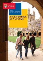 Study Abroad brochure - The University of Sydney