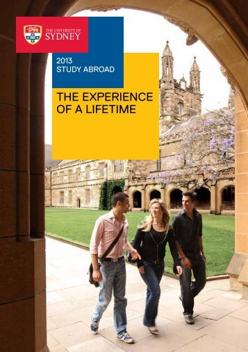 Study Abroad brochure - The University of Sydney
