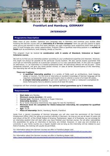 Frankfurt and Hamburg, GERMANY