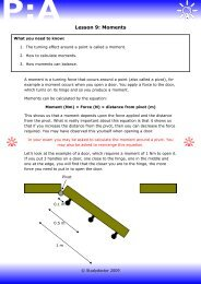 Open Lesson 9: Moments worksheet - Lesson 1
