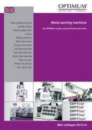 Metal working machines - Optimum Maschinen