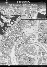 3 Info Maps of Student Life in Oulu - Study in Finland