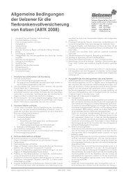 Allgemeine Bedingungen der Uelzener für die ...