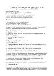 Protokoll der Vollversammlung der Studierendenschaft der ...