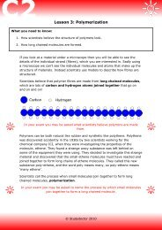 Open lesson 3: Polymerization worksheet - Lesson 1