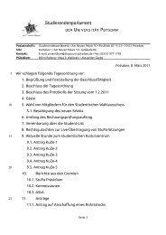 Nachtrag - Studierenden-Parlament der Universität Potsdam