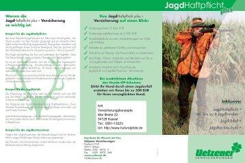 Antrag auf eine Jagdhaftpflichtversicherung Uelzener Versicherung