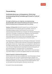 Pressemeldung CompTrol ® Touch - Stulz GmbH