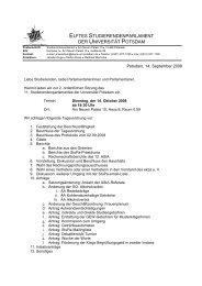 elftes studierendenparlament der universität potsdam