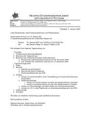 neuntes studierendenparlament der universität potsdam