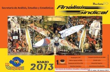 Revista Secretaría de Análisis, Estudios y Estadísticas - stunam