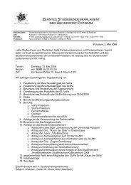 zehntes studierendenparlament der universität potsdam