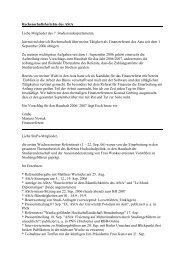 Rechenschaftsberichte des AStA Liebe Mitglieder des 7 ...
