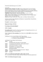 Protokoll der StuPa-Sitzung vom 14.12.2004 Anwesende ...